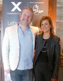 Shane Cullen (Senior Reporter Travelbiz) and Amelia Singer (The Wine Show)
