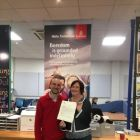 Kathryn McCarthy (Abbey Travel) who scooped 2 return business class tickets to Dubai!