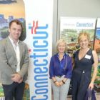 Dermot Lee (Aer Lingus) with Sharon Harney (John Cassidy Travel) and Margaret Strong (Dan Rua's Cottage)