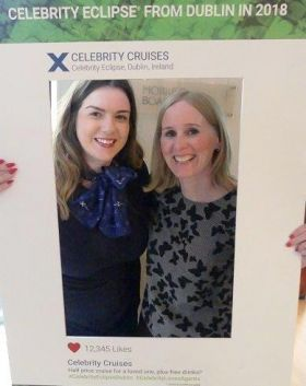 Mandy Burrie (Regional Sales Manager Celebrity Cruises) and Nicola McNeish (Head of sales UK & Ireland, Celebrity Cruises)
