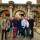 The gang at Hadrian's Gate in Antalya
