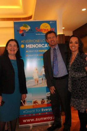 Teresa Gancedo (Director Spanish Tourist Office)with Philip and Tanya Airey (Sunway)