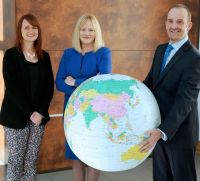 Geraldine Toal, MCIPS, Procurement Manager Central Procurement Directorate and colleague Sharon Smyth FCIPS LLM, Divisional Director Supplies Services, Central Procurement Directorate are pictured with Keith Graham, MD, Selective Travel Management.