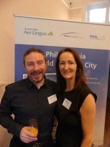 Barry Hammond  (Sunway Holidays) with Jenny Rafter McCann (Aer Lingus)