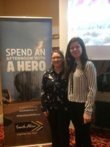Eilish Walsh (Cavan Travel) winner with Alexandra Stoilkova (South African Tourism)