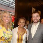 Michelle Jackson with Meseret Tekalign and Lorcan Keegan (Ethiopian Airlines)