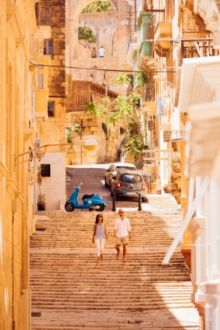 City Breakers exploring the streets of Valletta