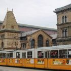 Budapest with traditional tram.