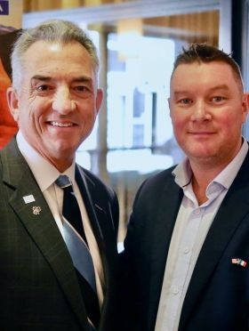 Christopher L. Thompson (President & CEO Brand USA) with Tony Lane (Executive Director Visit USA Committee Ireland)