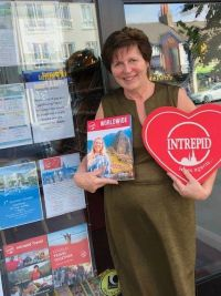 Sue Goodwin (Travellers Secrets in Warrenpoint) wins with Intrepid Travel.