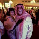 Velma Kelly from Chicago with Arab Sheikh Rattle and Roll (Bernie and Dominic Burke Travel Centres)