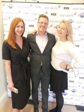 The Virgin Atlantic team including Holly Best (Account Manager Virgin Atlantic Airways), Amy Doggett and Kevin Smith (Virgin Atlantic Sales)