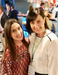 Niamh Maria Waters (Travelmedia.ie) and Edel Redmond (Dublin Airport)