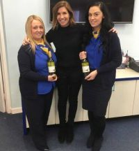 Leila McCabe (TUI Ireland) surprises and delights Amanda Anderson and Jennifer Best (John Cassidy Travel Tallaght)