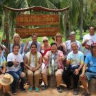 The group in the coconut plantation