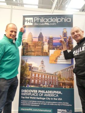 Ivan Beacom (Aer Lingus) with Greg Evans (Account Director UK & Ireland for PHLCVB)