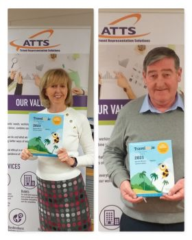 Catherine and Martin (ATTS) love their all new Travelbiz Desktop Diaries