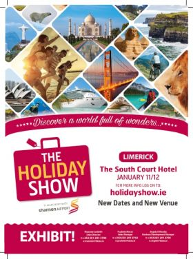 The Holiday Show Shannon - 11th & 12th January in the South Court Hotel, Limerick
