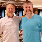 Shane Cullen (Travelbiz.ie) with Jean-Philippe Maury the chocolaterie extraordinary