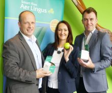 Ivan Beacom (Business Development Manager), Jenny Rafter McCann (Head of Leisure Aer Lingus) and Dermot Lee (Sales operations Manager)
