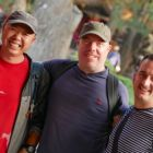 Jay (Our Intrepid Guide), Brendan White (Tropical Sky) and John McGurk (Intrepid Travel)