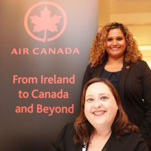 Blaithin O'Donnell (Sales Manager Air Canada) with Bernadette Goldsmith (Inside Sales Co-ordinator Air Canada)