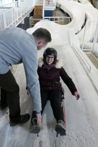 Anne Marie Nolan masters the Luge
