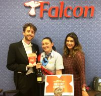 The Butler, Faye Lennon (Falcon Travel) and Mandy Burrie (Celebrity Cruises)
