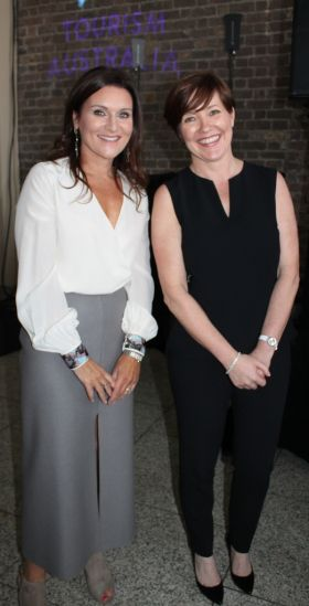 Lisa Collender (USIT) and Beatrice Cosgrove (Etihad Airways).