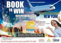 Win 2 Business class seats to New York with Accident and General