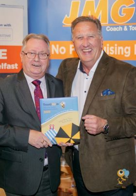 Tom Maher (Trade Sales Manager Ireland JMG Cruises) with Don Shearer (Travelbiz.ie)