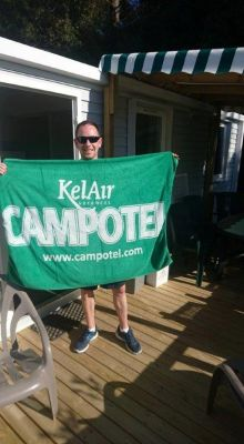 Paul Dawson loves the KelAir Campotel Mobile home holiday experience