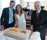 Philip and Tanya Airey with Jim Furlong (Sunway Holidays)