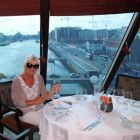 Jacinta Mc Glynn (Travelbiz) settles down to dine!