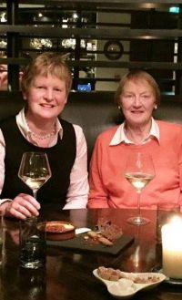 Frances Grogan pictured with Eileen at her retirement dinner in 2014.