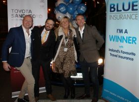 Donna Kenny wins the Blue Insurance and Toyota Sandyford Toyota Yaris Hybrid.