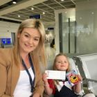 Juliette Cullen gets Nicola Callaghan (Thomson Cabin Crew) to check her ticket