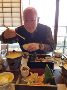 Declan Mescall (Features Editor Travelbiz) in Japan
