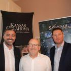 Lee Osborne (Bookabed), Matt Bates (Kansas & Oklahoma) and Tony Lane (Executive Director Visit USA Committee)