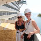 Jacinta Mc Glynn (Travelbiz), Rosalind Jeffcoat (MSC Cruises) - onboard MSC Seaside