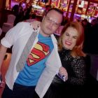 Clark Kent aka Superman aka Darren Yeats (Midlands Travel) with Rebecca Kelly (MSC Cruises)