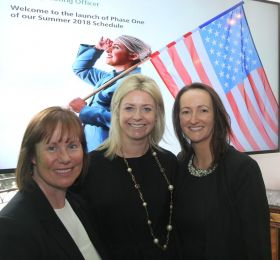 Dara McMahon (Head of Marketing Aer Lingus) Yvonne Muldoon (Director of Sales Aer Lingus) and Jenny Rafter (Head of Leisure Aer Lingus)