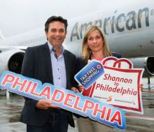 Declan Power (Shannon Airport) and Fiona Ryan (American Airlines)