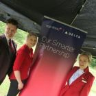 Holly Best and the Virgin Atlantic team.