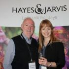 Declan Mescall (Features Editor Travelbiz) and Sarah Locke (Hayes & Jarvis)