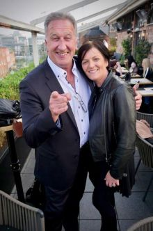 Don Shearer (Travelbiz) with Ita Comer (Club Travel)
