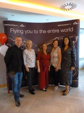 The Air France KLM team in Ireland. Frank McCaffrey, Siobhan Scanlon (Head of Sales Ireland) Jacqueline McMahon, Teresa Murphy and Victoria Pascual