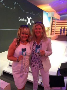 Sandra Corkin (MD Oasis Travel Group) with Mary McKenna (Tour America)
