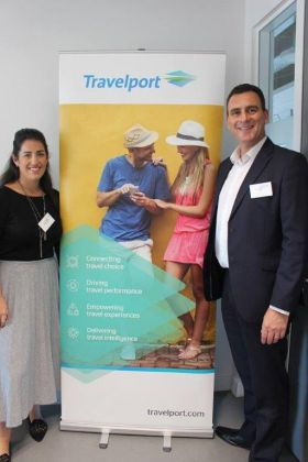 Riona Mc Grath (Country Manager Travelport) and Paul Broughton (MD Travelport UK & Ireland)