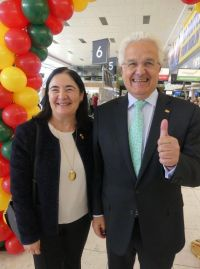 Teresa Gancedo (Head of the Spanish Tourist Office Dublin) with the Spanish Ambassador